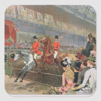 A Horse Race, 1886 Square Sticker