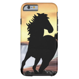 A horse silhouette and waterfall iPhone 6 case