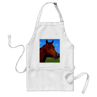A horse standing proud adult apron