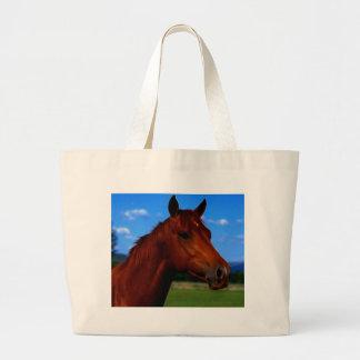 A horse standing proud jumbo tote bag