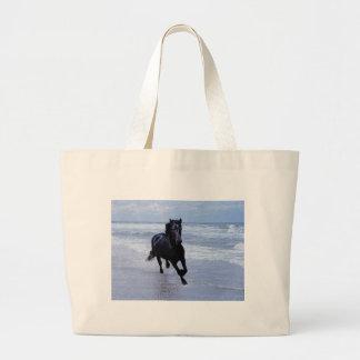 A horse wild and free jumbo tote bag