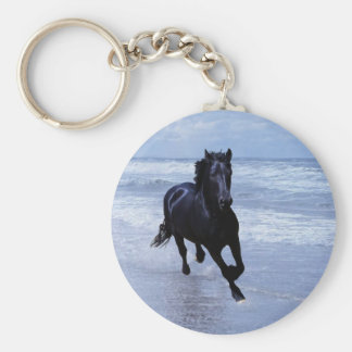 A horse wild and free basic round button keychain