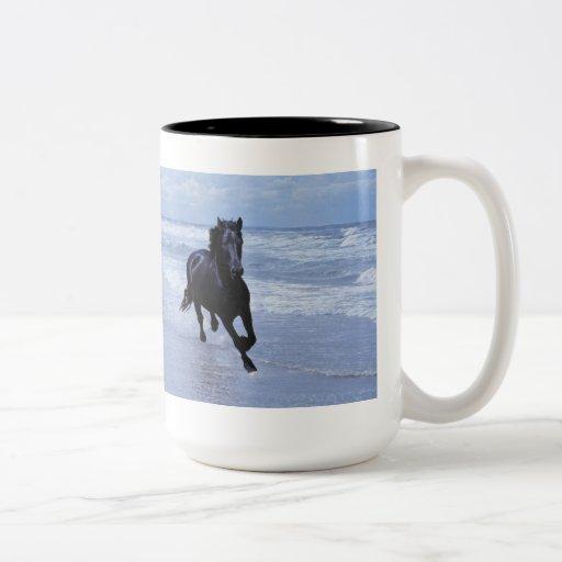 A horse wild and free mug