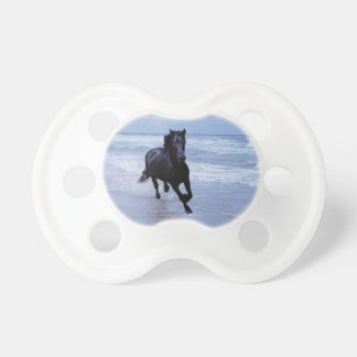A horse wild and free baby pacifier