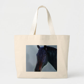 A horses curiosity large tote bag