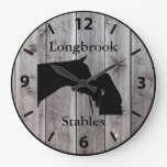 A Horses Love 2 Customizable Barnwood Styled Large Clock