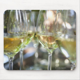 A host pours glasses of torrontes for guests at mouse pad