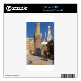 A Hot Day in Cairo (front of the Mosque) by Jean-L Decals For iPhone 4
