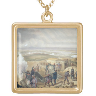 A Hot Day in the Batteries, plate from 'The Seat o Gold Plated Necklace