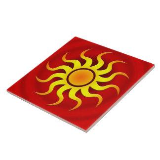 A HOT SOUTHWESTERN SUN CERAMIC TILE