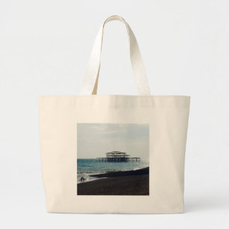 A Hot Summers Day - Brighton West Pier Large Tote Bag