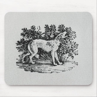 A Hound from 'History of Quadrupeds' Mouse Pad