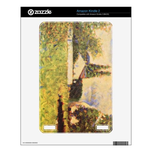A house between trees by Georges Seurat Skin For Kindle