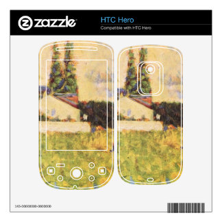 A house between trees by Georges Seurat Decals For The HTC Hero