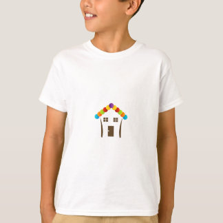 A house graphic with a colorful roof T-Shirt