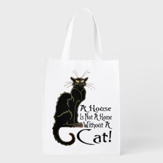 """""""A House IS Not A Home Without A Cat"""" - Grocery Ba Grocery Bag"""
