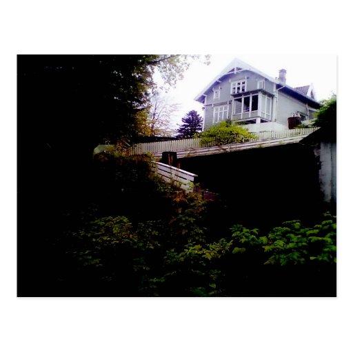 A House on a Hill Postcard