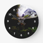 A House on a Hill Round Wallclock