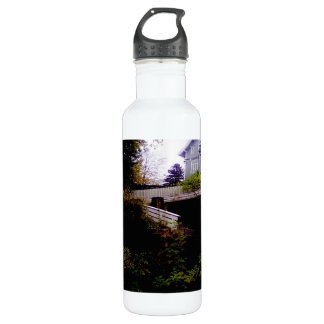 A House on a Hill Stainless Steel Water Bottle