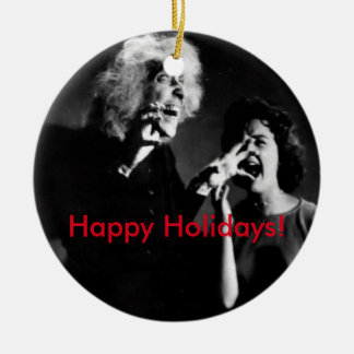A House on Haunted Hill Christmas! Double-Sided Ceramic Round Christmas Ornament