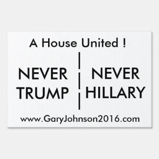 A House United Yard Sign