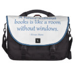 A House Without Books Laptop Bags