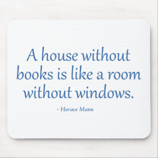 A House Without Books Mouse Pads