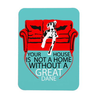 A house without German Doggen Rectangular Photo Magnet