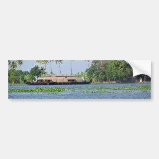 A Houseboat in backwaters in Kerala Bumper Sticker