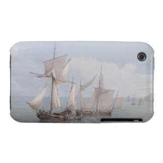 A Hoy and a Lugger with other Shipping on a Calm S iPhone 3 Cover