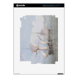 A Hoy and a Lugger with other Shipping on a Calm S iPad 3 Skins