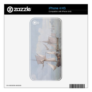 A Hoy and a Lugger with other Shipping on a Calm S iPhone 4 Decal