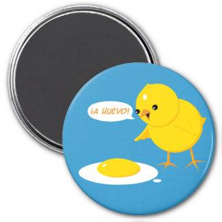 ¡A Huevo! 3 Inch Round Magnet