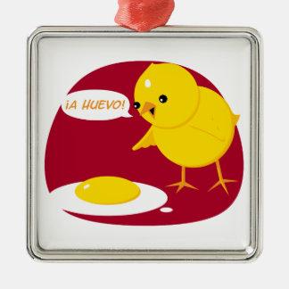 ¡A Huevo! Metal Ornament