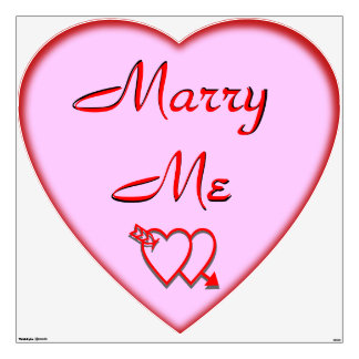 A HUGE 4 Foot Marry Me Pink Hearts Wall Decal