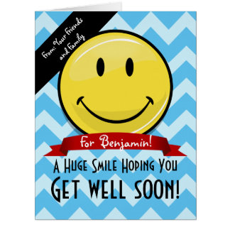 A Huge Smile Get Well Soon Custom Big Card