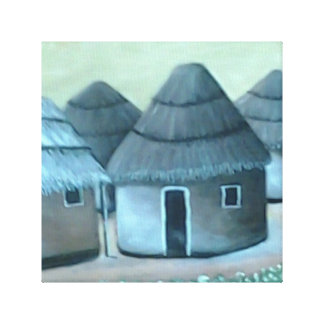 A Humble Dwelling Wrapped Canvas