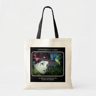 'a Hummingbird at Twilight' Canvas Bag
