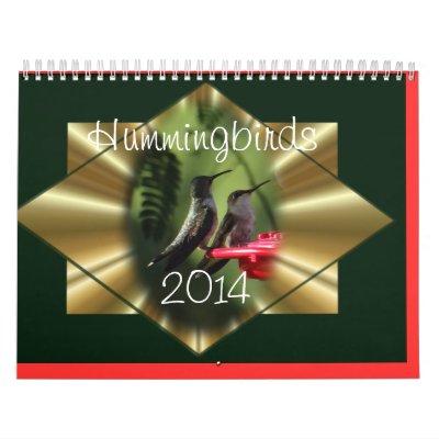 A Hummingbird Calendar- personalize if you wish