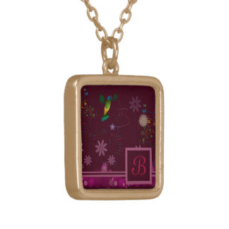 A Hummingbird Painter Gold Plated Necklace