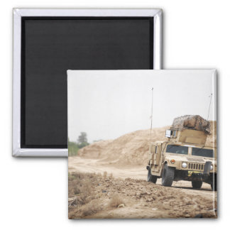 A Humvee conducts security Magnet