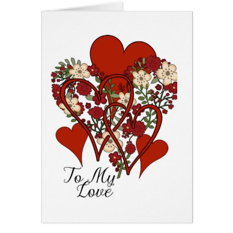 A Hundred Hearts, Heart Design Valentines Card