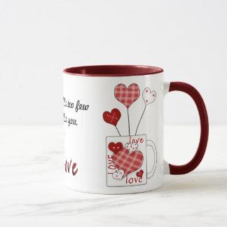 A hundred hearts mug