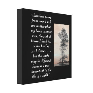 A hundred years  - Canvas art print