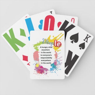 A Hungry child anywhere in the World Bicycle Playing Cards