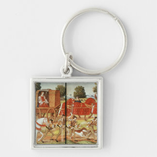 A Hunt, illustration from Ovid's Epistles Keychain