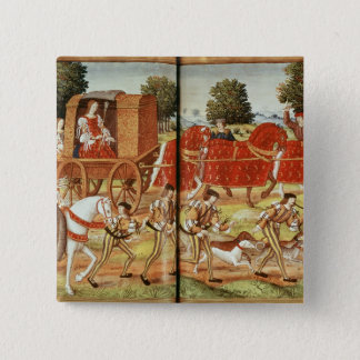 A Hunt, illustration from Ovid's Epistles Pinback Button