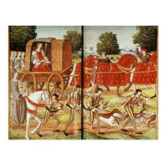 A Hunt, illustration from Ovid's Epistles Postcard