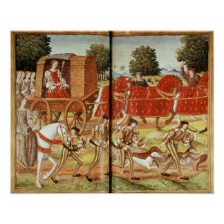 A Hunt, illustration from Ovid's Epistles Poster