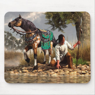 A Hunter and His Horse Mouse Pad